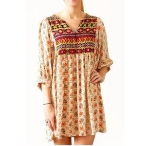 Umgee || Tribal Baby Doll Dress Size Small